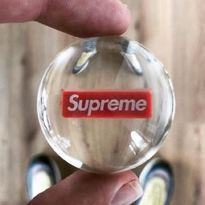 Clear & Red Supreme Bouncy Ball ❤️